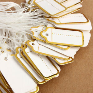 500pcs String Tie Watch Jewelry Clothing Display Price Ticket Tags Labels