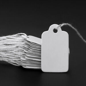 500pcs String Tie Watch Jewelry Display Merchandise Price Ticket Tags Label