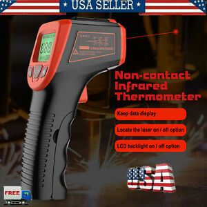 Us Industrial Digital Thermometer Laser Infrared Temperature Gun Lcd No Contact