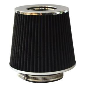 Black 3 5 Inch Race Performance High Flow Cold Air Intake Cone Dry Filter