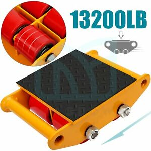 13200lb Heavy Duty Machine Dolly Skate Machinery Mover Machinery Roller Mover 6t