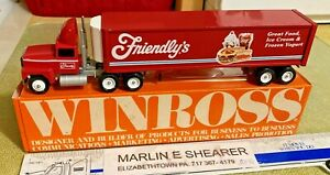 Friendly s Food And Ice Cream Tractor Trailer Winross Truck