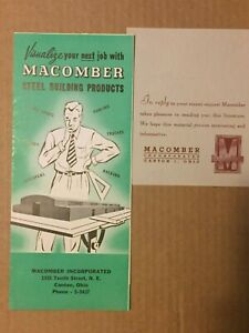 Macomber Incorporated Steel Building Products Advertising Literature