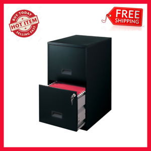 Filing Cabinet 2 drawer Steel File Cabinet With Lock Space Solution Black