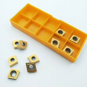 10pcs Ccmt09t304 Gold Plated Indexable Carbide Inserts Tosuit Sclcr Lathe Tools