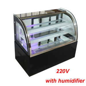 220v Countertop Refrigerated Display Cases Cake Showcase W Humidifier Led Light