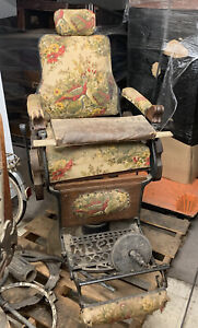 Antique Metal And Wood 1880 S Barber Chair