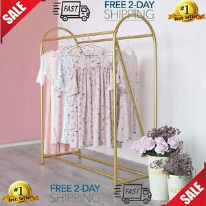 Gold Clothing Rack Retail Display Heavy Duty Clothes Garment Rack For Boutiqu