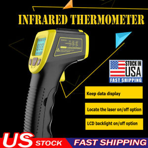 Industrial Digital Thermometer Laser Infrared Temperature Gun Lcd Non contact Us
