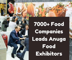 7000 Food Companies Exhibitors Industry B2b Leads For Cold Email Marketing