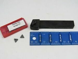 Anc 5 8 Indexable Tool Holder With 10 Pcs New Tnma 222 Carbide Inserts