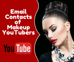 Email Contacts Leads Of Beauty Makeup Youtubers