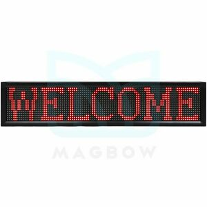 Bright Led 40 x8 Sign Board Neon Light Business Ad Wifi Programmable Scrolling