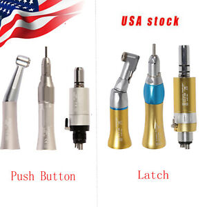 Usa Nsk Style Dental Low Speed Contra Angle Straight Air Motor 4hole Kit Ybb st