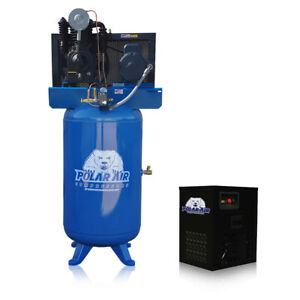 5 Hp Air Compressor With 30 Cfm Dryer Package Inline Single Phase 80 Gallon Tank