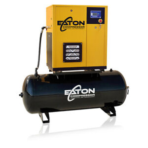5 Hp Rotary Screw Air Compressor With 80 Gallon Tank 3 Phase Fixed Speed