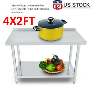 24 x48 Work Table Food Prep Stainless Steel Commercial Kitchen Restaurant New