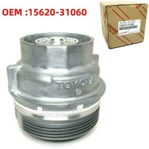 For Toyota Oil Filter Housing Cap Assembly 6 Cyl 35l Genuine Part 15620 31060
