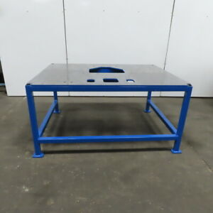 1 2 Thick Top Steel Machine Base Welding Table Work Bench 63 wx47 dx31h