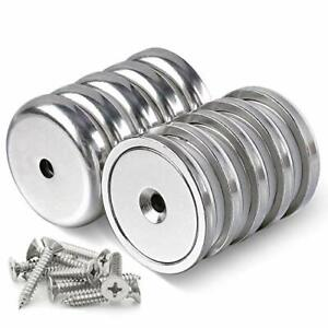 Diymag Neodymium Round Base Cup Magnet100lbs Strong Rare Earth Magnets With H