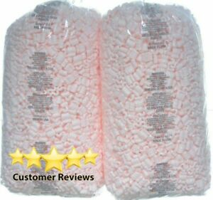 Packing Peanuts Fill 52 Gallons 7 Cu Ft 2 X 3 5 Pink Shipping Anti Static Loose