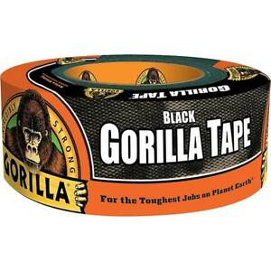 Gorrila Tape Black Duct Tape Heavy Duty Thick Weather Resistant 1 88in X 12yd