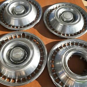 Chevrolet Chevy 14 Set Of 4 Hubcaps Wheel Covers Vintage