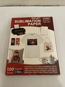 100 Sheets Sublimation Paper 8 5x11 For Inkjet Printer Epson Canon Heat Transfer