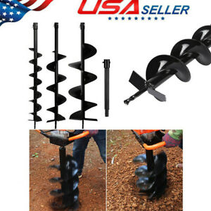 4 6 10 Earth Auger Drill Bits Extension Bar For Gas Power Post Hole Digger