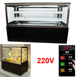 Cake 220v Countertop Refrigerated Display Cases Back Door 47 Wide Show Case