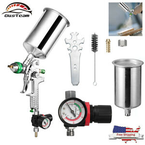 Hvlp Gravity Feed Spray Paint Gun Air Kit Auto Primer With 2 5mm Needle Nozzle