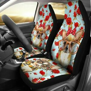 Chihuahua And Roses Car Seat Covers Custom Seat Covers Custom Made Cover