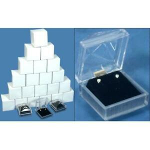 24 Clear Crystal Earring Gift Boxes 1 7 8