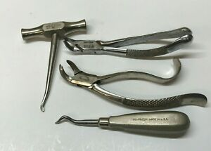 4 high End Dental Tools Pliers Hammer Another Dental Tool