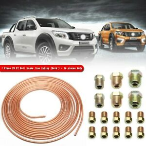 Copper Nickel Brake Line Tubing Kit 3 16 Od 25 Foot Coil Roll All Fittings Tw