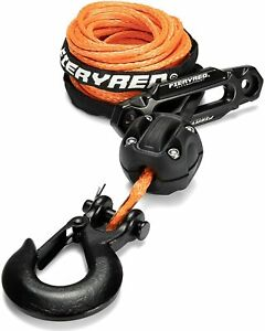 Synthetic Winch Rope 3 16 50 8200ibs Winch Cable Stopper Hook Fairlead Set