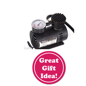 Car Mini Electric Inflation Pump Portable Tire Air Inflator 300psi Easy Auto