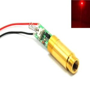 High Power Apc Dc3 7v Industrial 650nm 200mw Red Dot Laser Diode Module W Driver