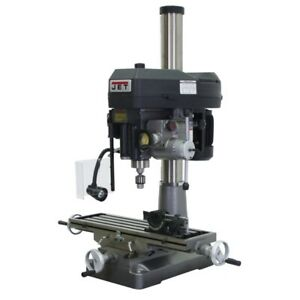 Jet 350136 Jmd 18pfn Mill drill With Newall Dp500 Dro And X axis Table Powerfeed