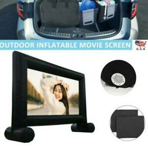 16 Ft Inflatable Movie Outdoor Projector Screen Portable With Blower Carry Bag