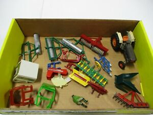 Assorted Siku Tractor And Farm Implements Lot