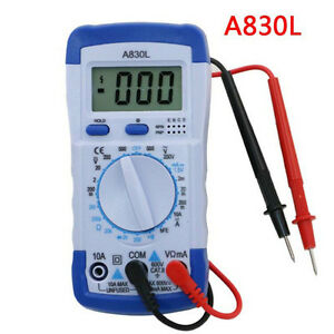 A830l Lcd digitals Multimeters Voltage Diode Freguency Multitesters Test Cury ga
