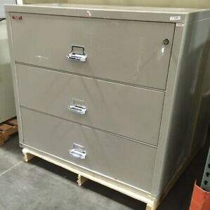 Fire King Fireking 3 Drawer Lateral Fireproof File Cabinet