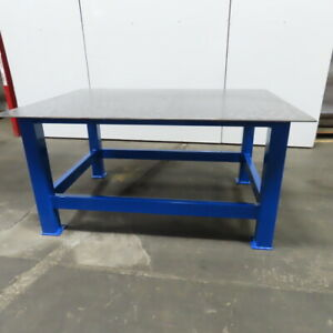 3 8 Thick Top Steel Fabrication Welding Layout Table Work Bench 53 x73 x36