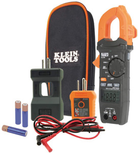 Klein Tools Cl120kit Electrical Tester auto ranging Digital Clamp Meter Kit Gfc