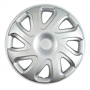 14 Silver Universal Hubcaps Set Of 4 New 61111