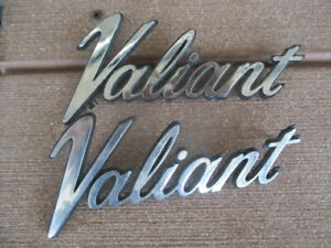 Plymouth Valiant Two Emblem Scripts Production Year Is Unknown P N 3680462