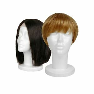 Female Styrofoam Mannequin Hairpieces Stand Holder Cosmetics Model Head Hair Wig