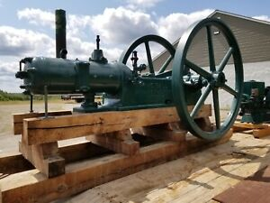 The Ball Huge Antique 15hp Hot Tube Hit miss Gas Oil Field Engine 190 Rpm
