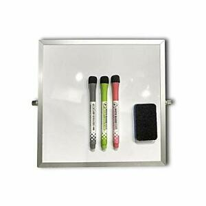 Small Dry Erase White Board With Stand Desktop Whiteboard 10 x10 Double